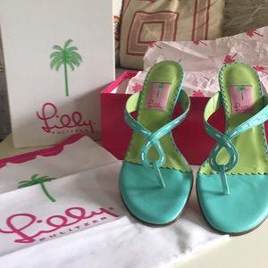 Adorable GU Lily Pulitzer Sandals